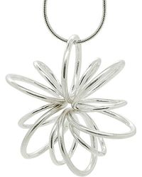 Maree London - Silver Large Lotus Necklace - Lyst