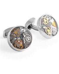 Tateossian - Sterling Silver Industrial Gear Cufflinks | - Lyst