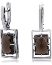 Drukker Designs Sterling Silver Smoky Quartz Earrings Lyst