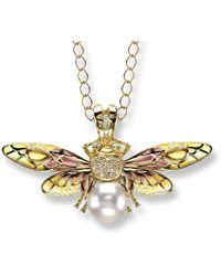 Nicole Barr - 18kt Gold Bee Pendant - Lyst