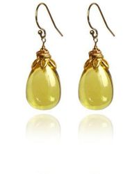 Brandts Jewellery - Bonbon - Smooth Lemon Quartz Drop Earrings - Lyst