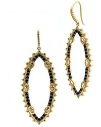 Freida Rothman - Spiked Harlequin Drop Earrings - Lyst