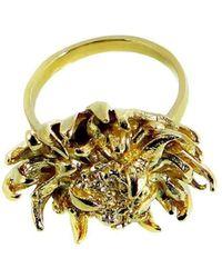 Beryl Dingemans Jewellery - Gold Open Protea Ring - Lyst