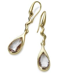 Serena Fox - Amore Yellow Gold And Morganite Earrings - Lyst