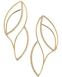 Janice Zethraeus - Frosted Frond Stud Earrings - Lyst