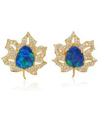 Socheec - Maple Leaf Opal Stud Earring - Lyst