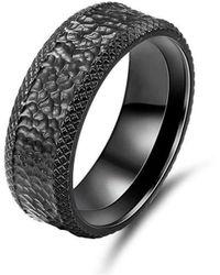KAVALRI - Matrix Black Zirconium Ring - Lyst