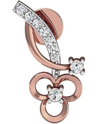 Diamoire Jewels Nature Inspired 18 Premium Quality Diamonds and 10kt Rose Gold Pave Set Earrings UT40rTf7