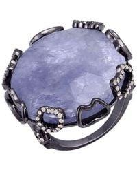 Arya Esha - Harper Iolite And Diamond Ring - Lyst