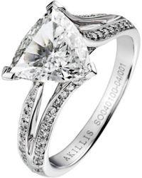Akillis Puzzle Toi & Moi White Gold With Diamonds S Ring - UK K 1/2 - US 5 3/8 - EU 51 fBherhJ