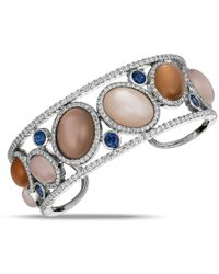 Gemlok for Gemveto - Large Moonstone Bangle Bracelet - Lyst