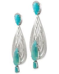 Chavin Couture - 925 Silver Earrings With Blue Opal - Lyst