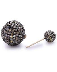 Socheec - Mystic Double-sided Diamond Stud Earrings - Lyst