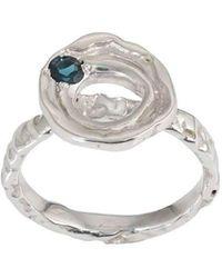 Corinne Hamak - Distortion Blue Tourmaline Flower Ring - Lyst