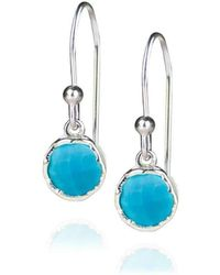 Zefyr Dosha Earrings Sterling Silver With Turquoise CBdSnmO