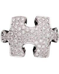 Akillis - Puzzle White Gold With White Diamonds Ring - Lyst