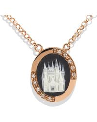 Vintouch Italy - Queen Of My Castle Cameo Necklace - Lyst