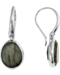 Juvi Designs - Tulum Silver Earring With Labradorite - Lyst