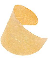 Amazona Secrets - 18kt Gold Magnolia Leaf Bracelet - Lyst