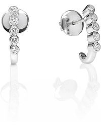 Kaizarin - Diamond Balli Earrings In White Gold - Lyst