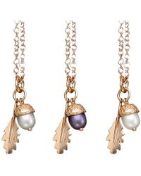 Amanda Cox Jewellery - 18kt Rose Gold Vermeil Medium Acorn Pendant - Lyst