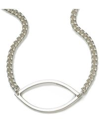 Naomi Tracz Jewellery - Single Marquise Necklace In Silver - Lyst