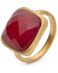 Donatella Balsamo | Amazonia Cushion Cut Ring - Red Quartz | Lyst