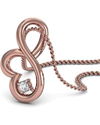 Diamoire Jewels Delicately Carved Pendant in 18kt Rose Gold F2j1Y