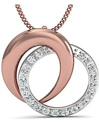 Diamoire Jewels - Inspired By Nature 10kt Rose Gold Pave Pendant Handmade With Top Quality Diamonds - Lyst