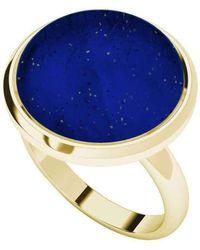 StyleRocks Lapis Lazuli Yellow Gold Plated Cabochon Ring - UK U - US 10 1/4 - EU 62 3/4 mkjBvSr