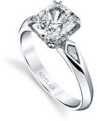 Harry Kotlar Emerald Cut Harmonie Ring - UK N - US 6 1/2 - EU 54 JI0v55