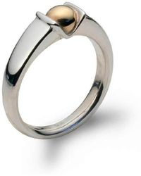 Jeremy Heber Jewellery - Silver & 9kt Yellow Gold Bud Ring - Lyst
