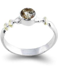 Agneta Bugyte - Sterling Silver, Rutilated Quartz & 14kt Gold Classical Ring - Lyst