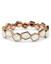 MARCELLO RICCIO - Rose Gold Plated Sterling Silver & Mother Of Pearl Eternity Ring - Lyst
