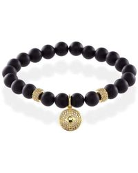MARCOS DE ANDRADE - Shield Onyx Bracelet With 18kt Gold - Lyst