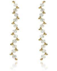 AMMA Jewelry - 18kt Gold Growing Diamond Drop Earrings - Lyst
