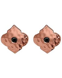 Murkani Jewellery - Rose Gold & Black Spinel Moroccan Stud | - Lyst