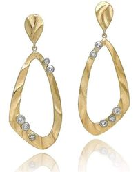 K.Mita - Open Pebble Drop Earrings - Lyst