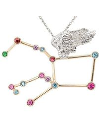 Jaime Moreno Designer Jewelry - White & Rose Gold Multi-gemstone Pegaso P Necklace   Jaime Moreno - Lyst