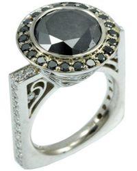 Alex Gulko Custom Jewelry - Black Diamond Ring - Lyst