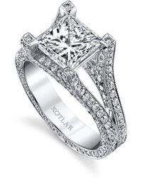 Harry Kotlar Princess Cut Unity Ring - UK N - US 6 1/2 - EU 54 Qw7XO