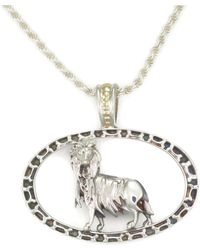 Donna Pizarro Designs Sterling Silver Welsh Corgi Necklace With 14kt Accent 6gbZ3Ysv
