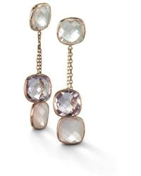 BCOUTURE - White Topaz, Pink Amethyst, Rose Quartz Drop Earrings - Lyst