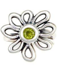 Donna Pizarro Designs - Sterling Silver Peridot Daisy Ring - Lyst