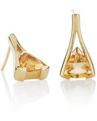 MANJA Jewellery - Valentine Gold Citrine Earrings - Lyst