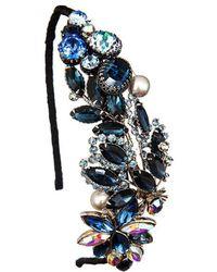 Krausz Jewellery - Something Blue Headpiece - Lyst