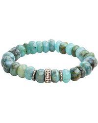 Nadean Designs | Blue Opal And Diamond Juniper Bracelet | Lyst
