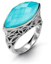 HERA - Mini Marquis Turquoise Ring - Lyst