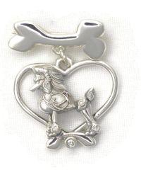 Donna Pizarro Designs Sterling Silver Cavalier King Charles Brooch EQK9C8