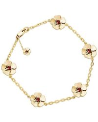 Augustine Jewels - Gold And Ruby Cotswold Bracelet - Lyst
